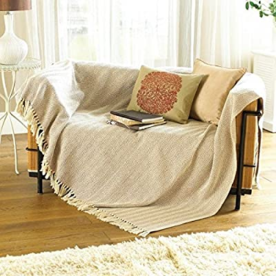 Large Natural Beige Sofa Throw - inexpensive UK light shop.
