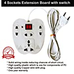 Extension Boardy | Extension Board 3+1 sockets 3 mtr Wire Indicator on Off Switch