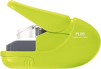 Paper Clinch Plus Enterprises Paper Clinch Compact Green Heavy Duty, Light, Staple-Free Stapler (Green, 31251)