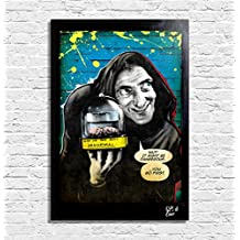 Igor dal film Frankenstein Junior (Mel Brooks, Gene Wilder, Marty Feldman) - Quadro Pop-Art Originale con Cornice, Dipinto, Stampa su Tela, Poster, Locandina