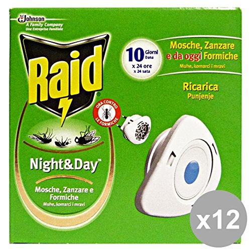 set-12-raid-nightday-fornello-ricarica-mosche-zanzare-formiche-articoli-per-insetti