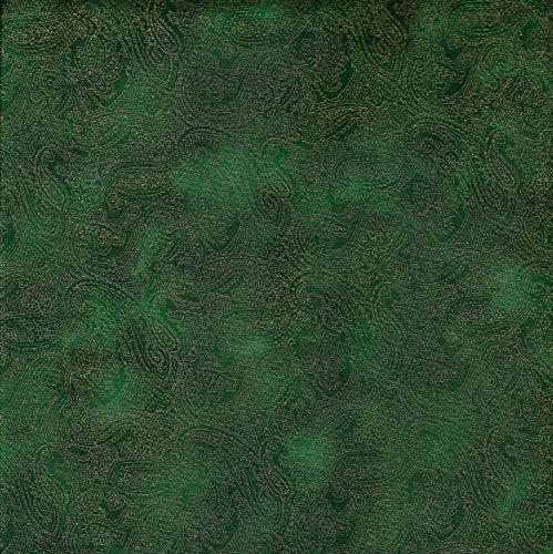 Fabric Freedom Stoff mit grünem Paisley-Motiv, 100% Baumwolle, Britisches Design, für Patchwork und Quilten, schöne abgestimmte Farben und Drucke, Preis pro qm -