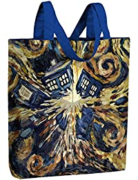 Doctor Who DW Van Gogh Exploding Tardis Tote Bag