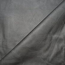 Tissu simili cuir gris vieillit stretch - Tissu faux cuir - tissu skai (par multiple de 20cm)