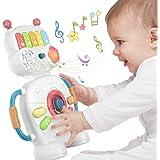 Giocattolo Musicale Elettronico Robot per Bambini per 1 anno, Natale, Halloween, Capodanno, regali, giocattoli sensoriali per