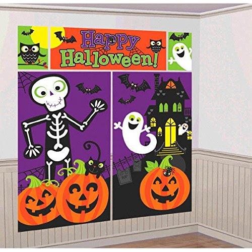 670361Familie Freundlicher Wand Scene Setter, 1,65m x 85cm (Halloween-kürbis-gesichter, Fotos)