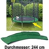 Carparts-Online 28322 Sicherheits Schutz Rand Abdeckung für Trampolin Sprungfedern 244 CM grün