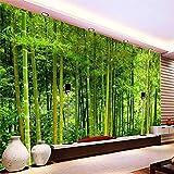 Fototapete Foto Benutzerdefinierte 3D Wandmalereien - Modern Green Bamboo Forest Fototapete - Wohnzimmer Tv Sofa Hintergrund Wand Tuch Home Decor Fresko, 350Cmx245Cm