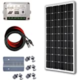 ECO-WORTHY 100W Solaranlage Solar Set 12V Mono Solarmodul Bausatz W/ 15A Regler Laderegler