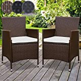 Miadomodo Set sedie poltrone polyrattan giardino esterno da 2 pezzi nel colore marrone immagine