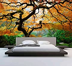 Idea Regalo - Wall Murals (albero di acero maestoso) - Peel and Stick - vinile autoadesivo - Home Decor Fai da te