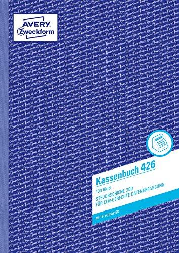 Avery Zweckform 426 Kassenbuch (A4, nach Steuerschiene 300, 100 Blatt) weiß