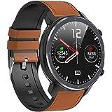 Microwear Bluetooth Smartwatch heren fitness tracker, IP68 waterdicht sporthorloge smart watch voor heren met stappenteller,