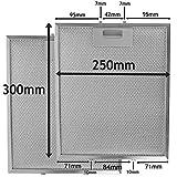 Comme Direct Ltd  Lot de 2hotte filtre à graisse en métal, Acier, 300mm x 250mm