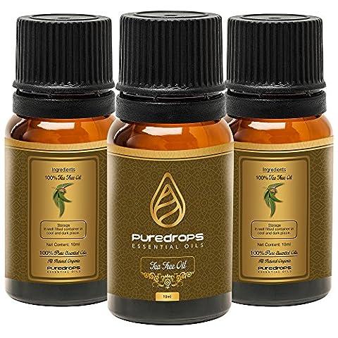 Pure Tropfen Tea Tree Öl (10ml)–100% natürliches ätherisches Öl, therapeutische,