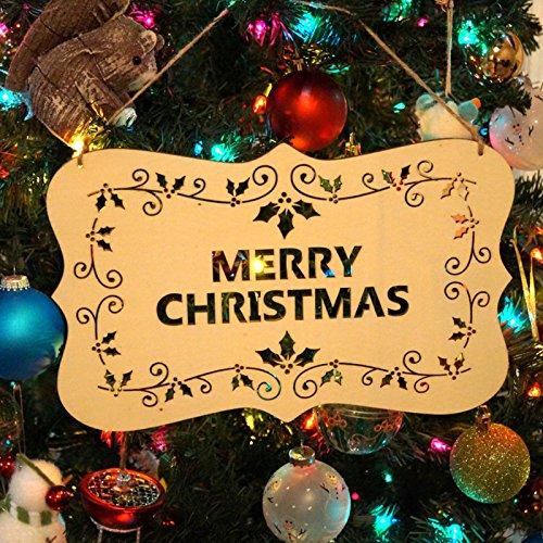 Frohe Weihnachten Wand Türschild, Zeichen aufgehoben Weihnachtsdekoration Partyzubehör-Weihnachten (Frohe Zeichen)