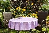 Garten-Tischdecke ABWASCHBAR mit Acryl und BLEIBAND, Form und Größe sowie Farbe wählbar,120 cm rund flieder lila London
