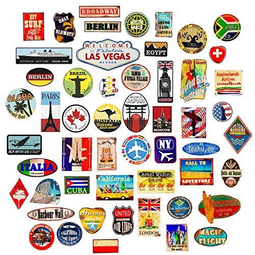 Wall4Stickers® Gepäckaufkleber Kofferaufnäher Vintage Reise Etiketten Retro Vintage-Stil Vinyl Aufkleber