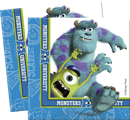 Disney Amscan International Monsters University Papier Servietten (Papier Streamer Ideen)