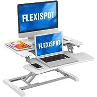 FLEXISPOT Poste de Travail Réglable en Hauteur, Bureau Assis Debout,Support pour Ordinateur avec Support Clavier…
