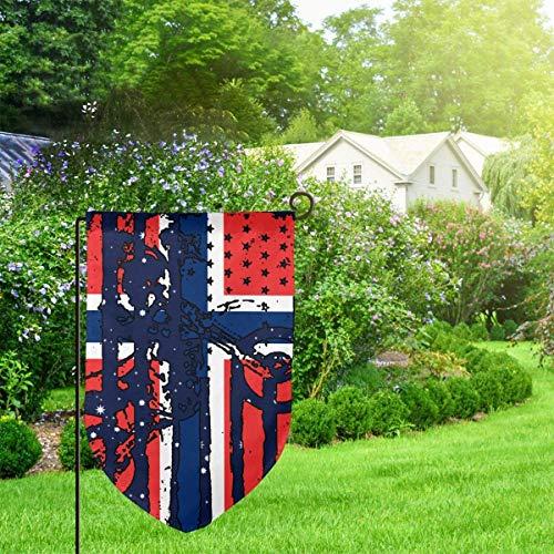 N/A Amerikanische Norwegen-Flaggen-Motocross-Garten-Flaggen-lustige Feiertags-Flaggen-dekorative Hauptflagge 12,5 x 18 Zoll-Leiste -