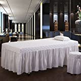 Best LA Linen Bed Skirts - YXLJYH European style Solid color Beauty Bed cover Review