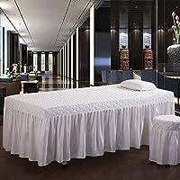 Estilo europeo Color sólido Belleza Cubierta de cama Juego de sábanas para camilla de masaje Solo