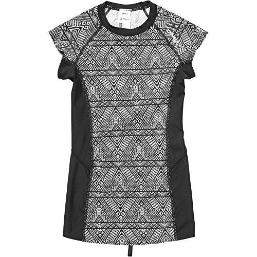 O'Neill Damen M und m Short Sleeve Bademode Mit Uv-Schutz Shirt, Black AOP W/White, S
