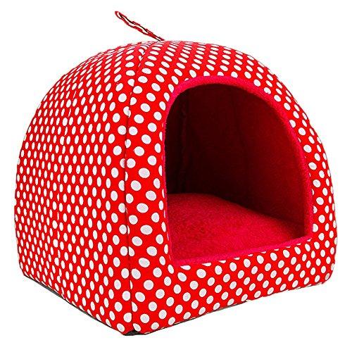 Pet Nest - Abnehmbare und waschbare Jahreszeiten verfügbar Doppelzweck Hundezwinger/Katzenhaus/Katzenhaus/Hundekissen (Farbe : B, größe : S)