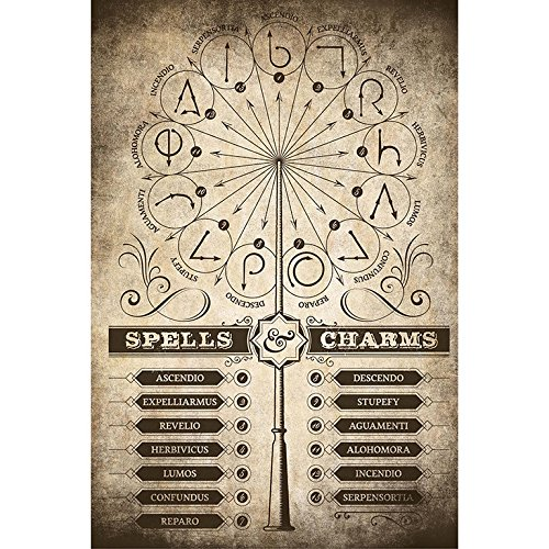 Grupo Erik Editores   Poster Harry Potter Spells & Charms