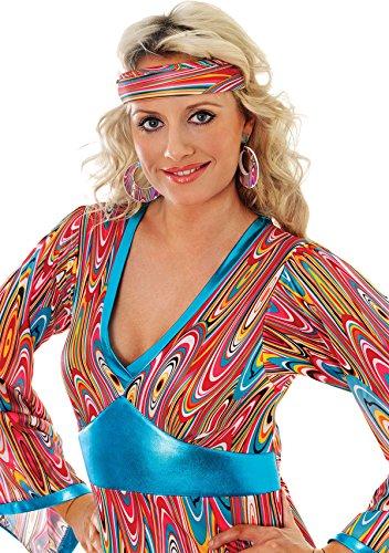 Erwachsene 1960IST & 1970's Fancy Dress Party Karneval Zubehör Damen Mod Ohr Ringe Gr. Einheitsgröße, Mehrfarbig - Multi