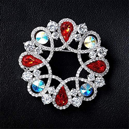 Peggy Gu schmuck Vintage-Stil Kristall Broschen für Frauen Eligant Kleidung Dekoration Schmuck Strass Brosche Pins kostüm - Accessoire