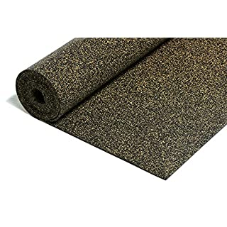 Rubber Cork Impact Sound Insulation 5 m² x 5 mm Thick Heavy Resilient Sound