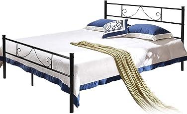 Aingoo Bettgestell Mit Lattenrost Gästebett Einzelbett Metallbett  Bettrahmen Jugendbett Kinderbett Für Kinderzimmer Gästezimmer Schlafzimmer  Bett In