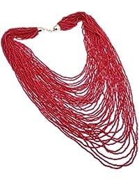 Jerollin mujer hecho a mano Fashion perlas de resina racimo grande larga declaración collar cadena cristal collar gargantilla declaración babero collar