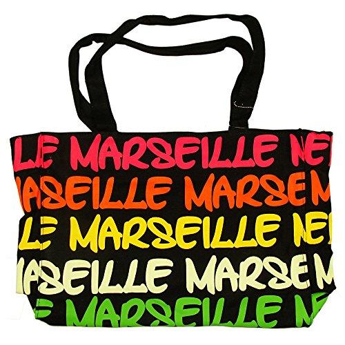 Robin Ruth - Sac Shopping Marseille 'Néon' 38 x 30 cm