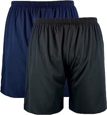 Kings Club Big Mens Black Navy Clough Twin Pack Pyjama Shorts 2XL 3XL 4XL 5XL 6XL 7XL 8XL