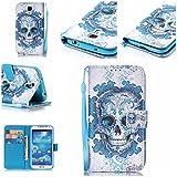 Chreey Coque Samsung Galaxy S4 / GT-i9500 (5 pouces),PU Cuir Portefeuille Etui Housse Case Cover ,carte de crédit Fentes pour ,idéal pour protéger votre téléphone