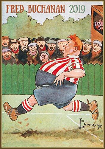 Pixiluv calendario da parete 2019[12pagine 20,3x 27,9cm] funny sport in scozia di fred buachan vintage cartoon