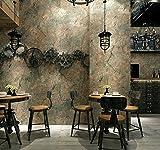 Reyqing Vintage Clothing Store Eine Antike Tapete Plain Grauzement Riss Tapeten, Retro Grün 158043, Tapeten Nur