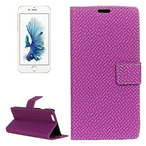 Phone case & Hülle Für iPhone 6 Plus / 6s Plus, Flash Powder Twinkling NightSky First Quarter Moon Pattern Soft TPU Schutzhülle ( Color : Black ) Purple