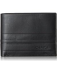 Calvin Klein Stripe 5cc+coin, Carteras Hombre, Negro (Black), 3x10x12 cm (B x H T)