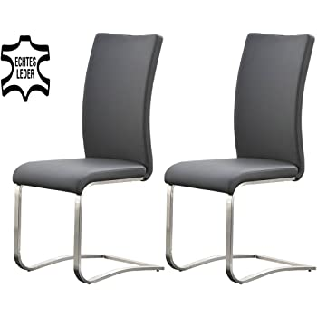 2 Stühle, Esszimmerstühle, Schwingstuhl, Freischwinger