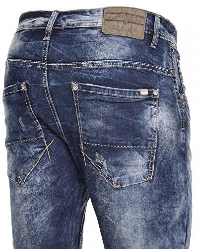 ... BLZ jeans - Jean Mann schneidet lose und scheinbare Knöpfe Blau ...