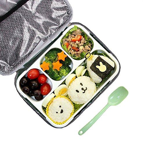 Bento Box Set, BPA Frei Mikrowellensichere Brotdose mit isolierte Mittagessen Tasche für Kinder & Erwachse, Lunchboxen mit 4 Unterteilungen für Outdoor/Picknick,Auslaufsicher und Spülmaschinengeeignet