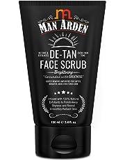 Man Arden De Tan Brightening Face Scrub 100ml - De-Tans & Exfoliates Skin - With Vitamin C