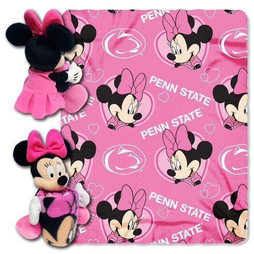 ncaa-penn-state-nittany-lions-minnie-cheerleader-40x50-inch-throw-with-14-inch-hugger-by-northwest
