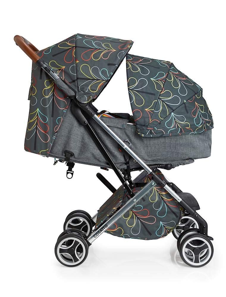 Cosatto Woosh XL Pushchair, Suitable from Birth to 25 kg, Nordik Cosatto Compact from-birth pushchair. carries up to 25kg child, so you can use it for longer. Hands full? it's lightweight with one-hand fold into compact bundle. easy to store. It can even carry dock 0+ car seat (sold sep) just pop onto the adaptors (sold sep). 2