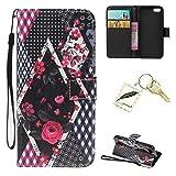 Silikonsoftshell PU Hülle für Apple iPhone 5 5s 5G Tasche Schutz Hülle Case Cover Etui Strass Schutz schutzhülle Bumper Schale Silicone case(+Exquisite key chain X1)#KH (9)