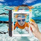 I-Sonite Schwarz Universal Wasserdichte Tablet Tasche mit verstellbarem Hals Strap Wasser für HP Pro Tablet 408 G1 - 8